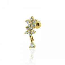 Piercing Orecchio Cartilagine - Helix - Tragus - Barbell Piercing – Bouganville Gold Plated